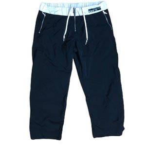 Nike front zipper cropped training pants